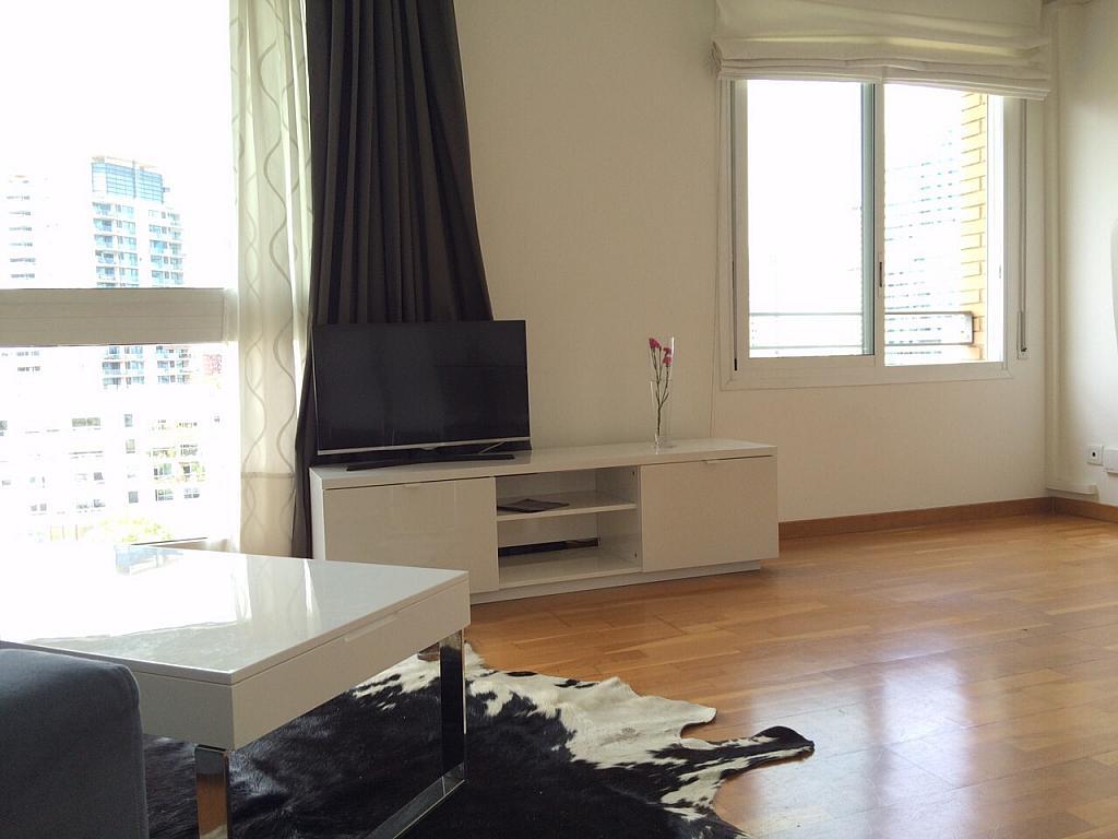 Salón - Apartamento en alquiler en pasaje Taulat, Diagonal Mar en Barcelona - 291129489