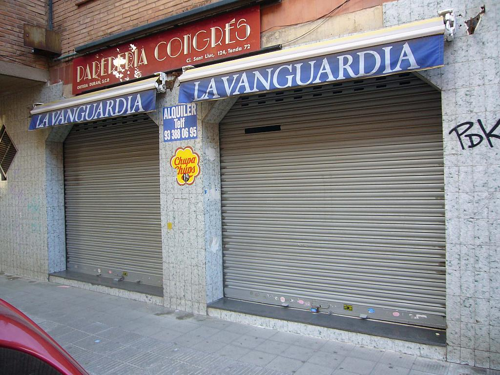 Fachada - Local comercial en alquiler en calle Sant Lluc, Congres en Badalona - 299724402