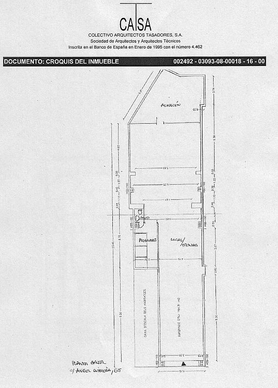 Plano - Local comercial en alquiler en calle Angel Guimera, Passeig rodalies en Manresa - 326695871