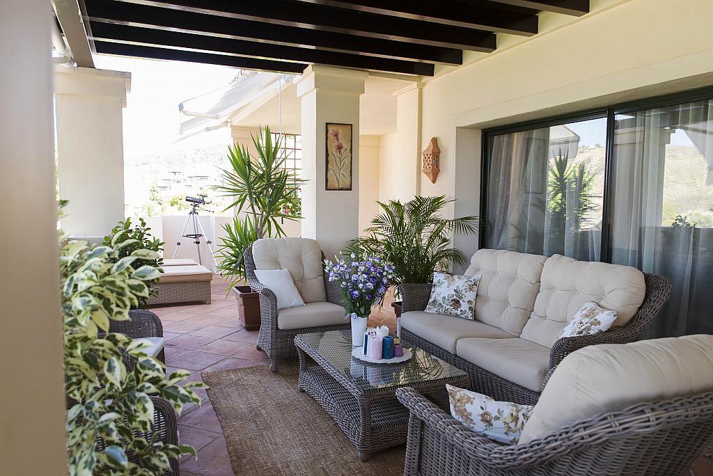Terraza - Apartamento en alquiler en urbanización Capanes del Golf, Benahavís - 314208043