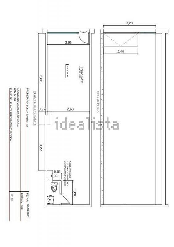 Plano - Local comercial en alquiler en calle Luis Luciano Bonaparte, Begoña en Bilbao - 320707081