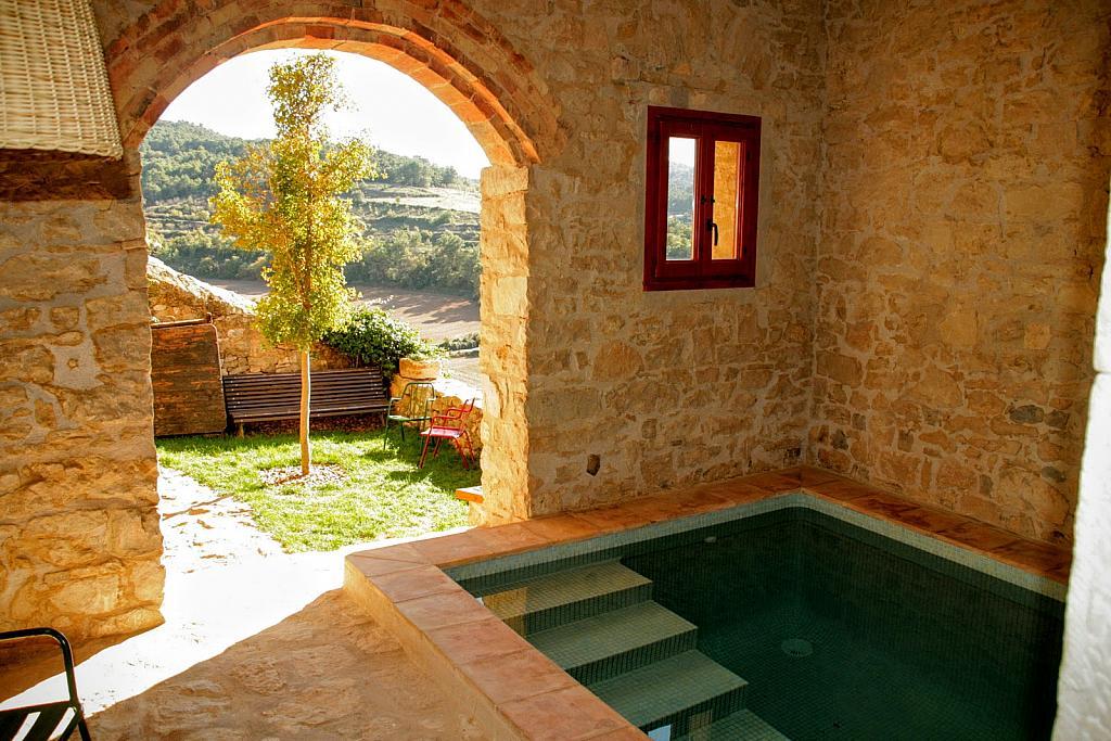 Piscina - Casa en alquiler de temporada en calle Eixida, Vallbona de les Monges - 320709407