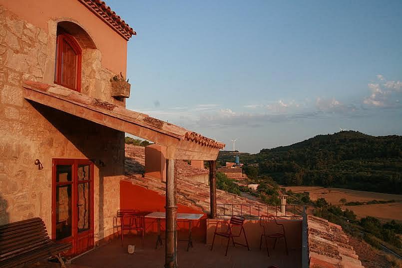 Terraza - Casa en alquiler de temporada en calle Eixida, Vallbona de les Monges - 320709423
