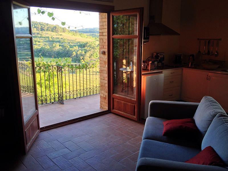 Salón - Casa en alquiler de temporada en calle Eixida, Vallbona de les Monges - 321215323