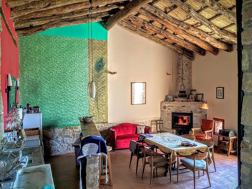 Salón - Casa en alquiler de temporada en calle Eixida, Vallbona de les Monges - 321217504