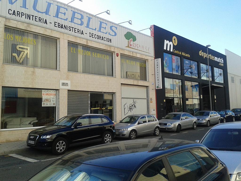 Fachada - Nave en alquiler en calle Doctor Isidoro de Sevilla, Rabasa en Alicante/Alacant - 322071811