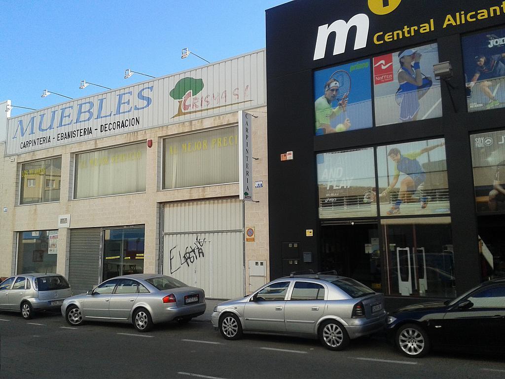 Fachada - Nave en alquiler en calle Doctor Isidoro de Sevilla, Rabasa en Alicante/Alacant - 322071814