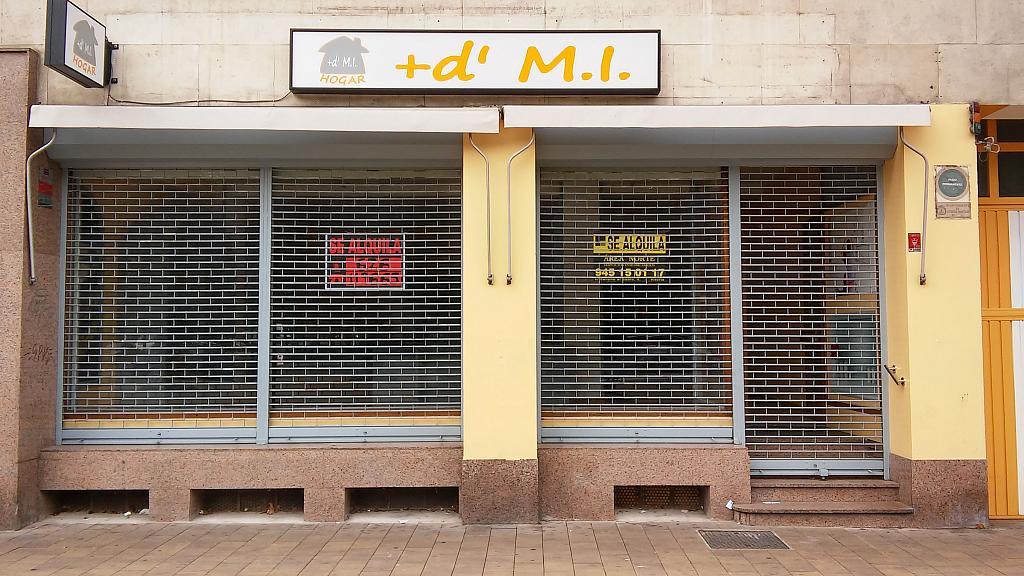 Fachada - Local comercial en alquiler en plaza Constitución, El Pilar en Vitoria-Gasteiz - 324623058
