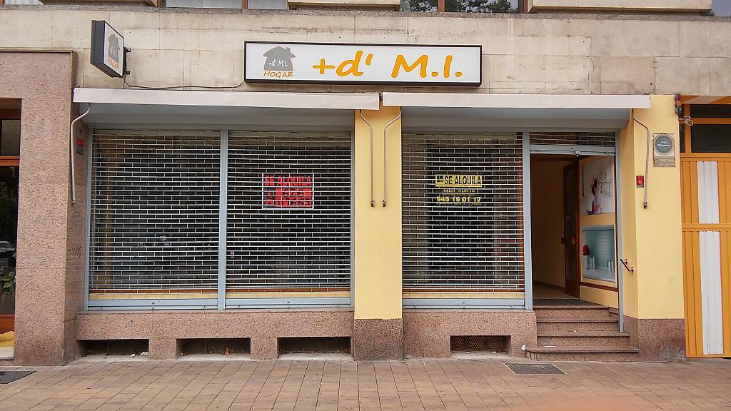 Fachada - Local comercial en alquiler en plaza Constitución, El Pilar en Vitoria-Gasteiz - 324623074