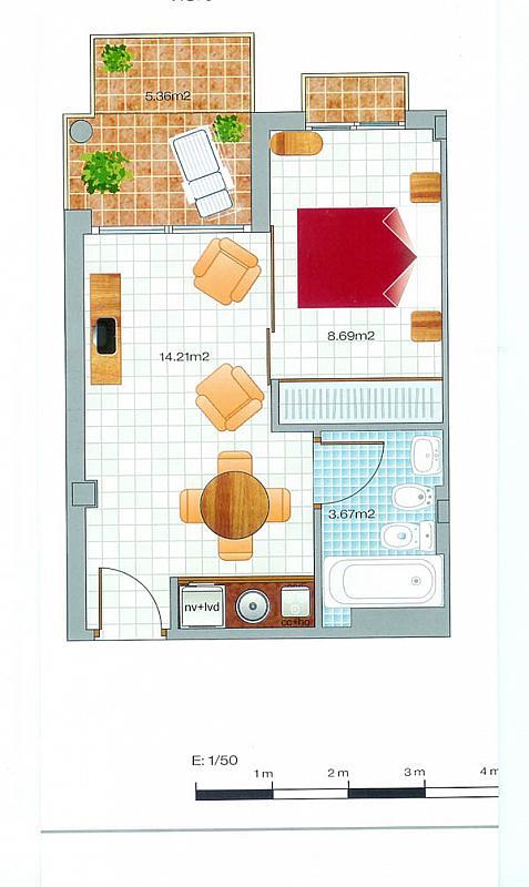 Plano - Apartamento en alquiler en urbanización Hinojo, Villanueva del Río Segura - 331320297