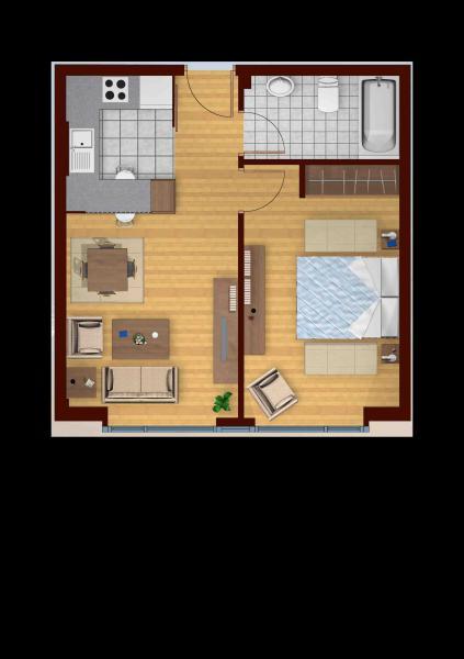 Plano - Piso en alquiler en calle Mugardos, Ares - 117787275