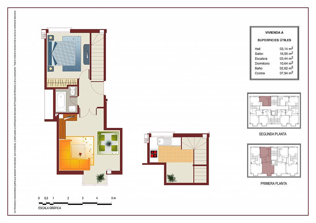 Plano - Ático-dúplex en alquiler en calle Lorenzo Bosquet, La Cañada en Coslada - 315292725