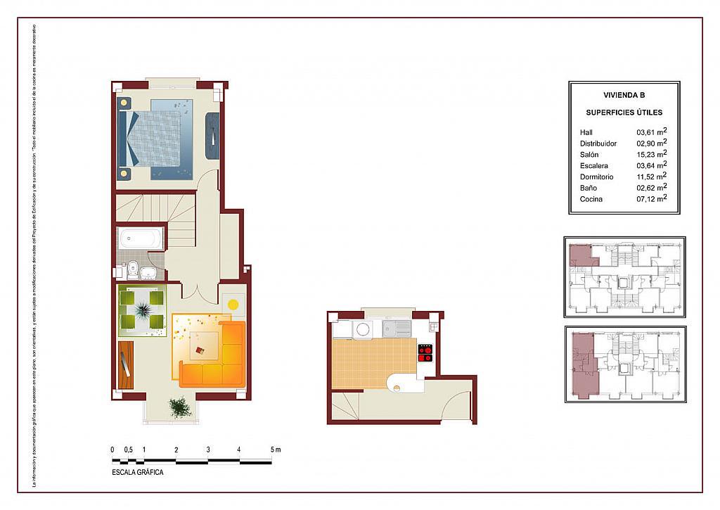 Plano - Ático-dúplex en alquiler en calle Lorenzo Bosquet, La Cañada en Coslada - 315292739