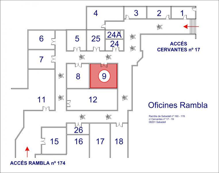 Detalles - Oficina en alquiler en calle Rambla, Centre en Sabadell - 107870314