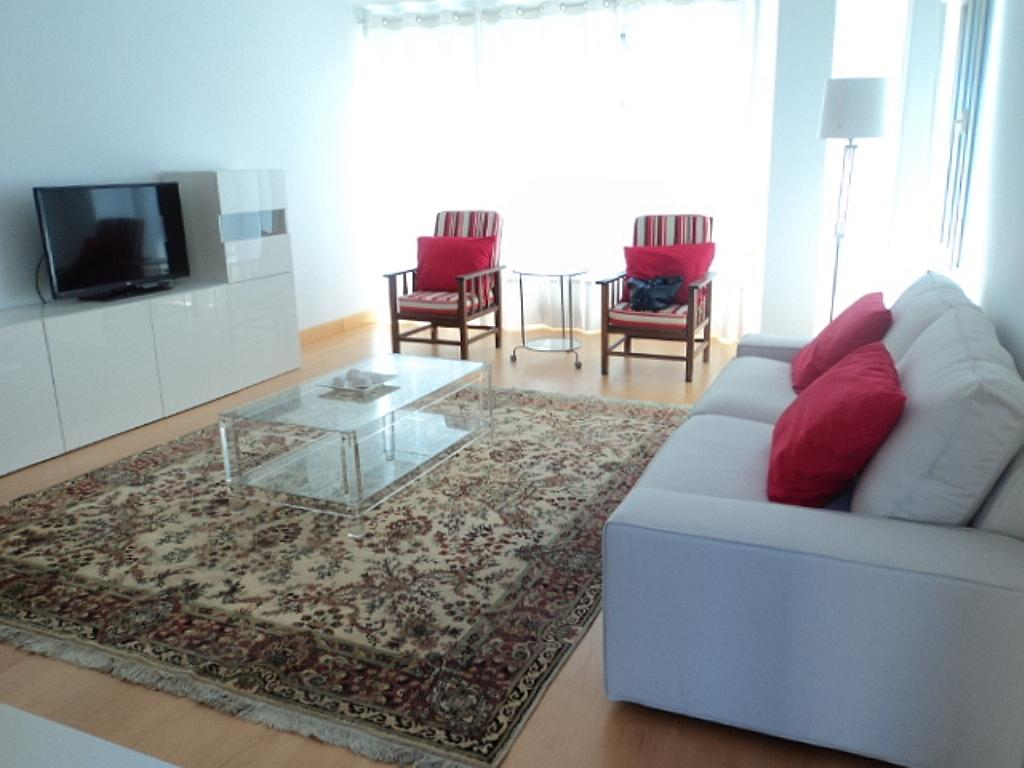 Salón - Apartamento en alquiler de temporada en calle Herrerieta, Getaria - 331622804