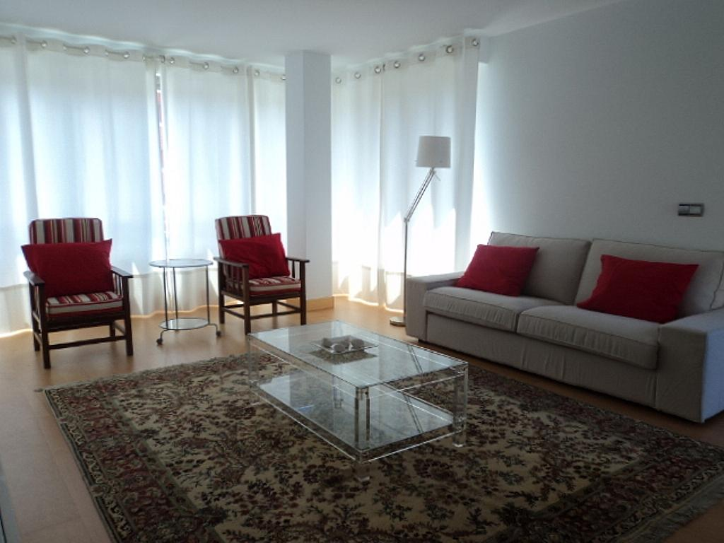 Salón - Apartamento en alquiler de temporada en calle Herrerieta, Getaria - 331622809