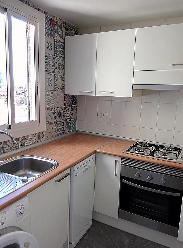 Cocina - Piso en alquiler en calle Jonqueres, Born-Santa Caterina-Sant Pere-La Ribera en Barcelona - 347928057