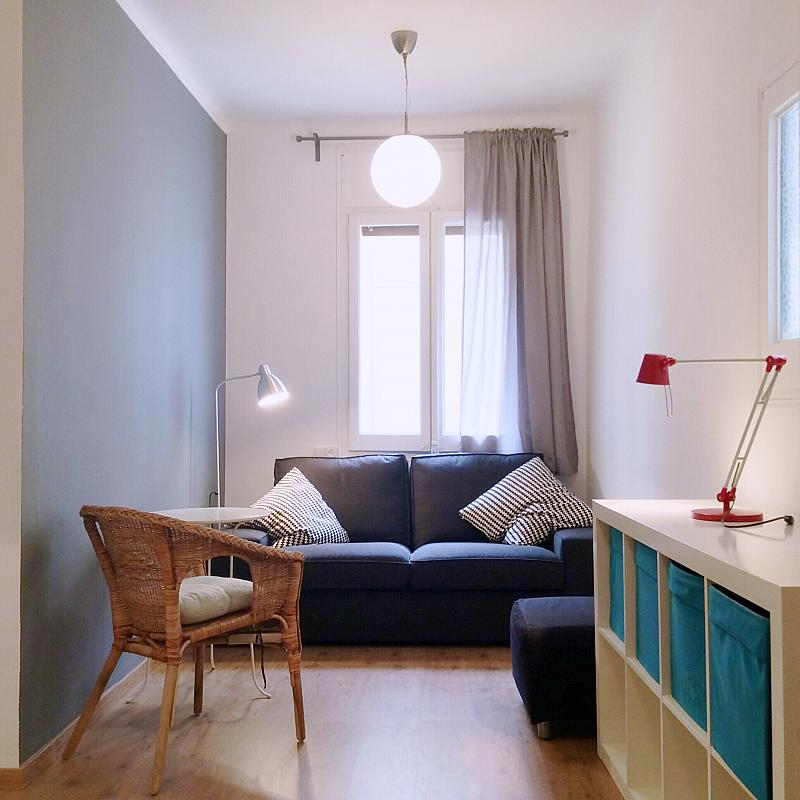 Salón - Apartamento en alquiler en calle Bou de Sant Pere, Born-Santa Caterina-Sant Pere-La Ribera en Barcelona - 139350489