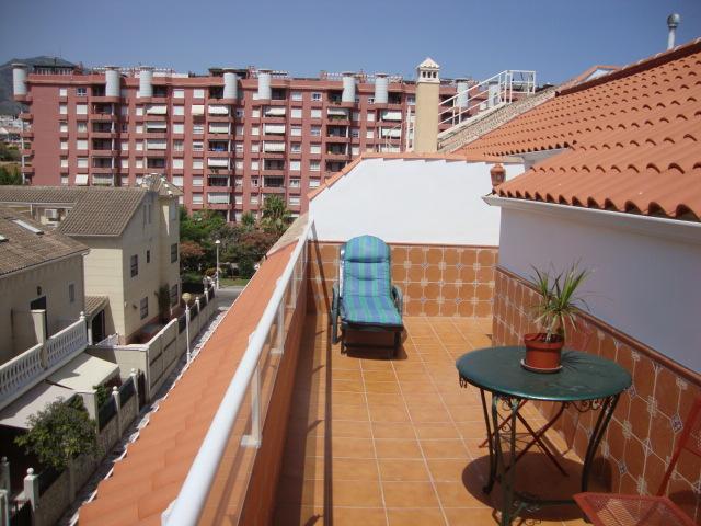 Terraza - Ático en alquiler de temporada en calle Gran Canaria, Los Boliches en Fuengirola - 78435135